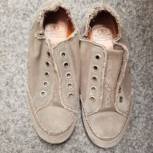 Lucky Brand Distressed Slip ons